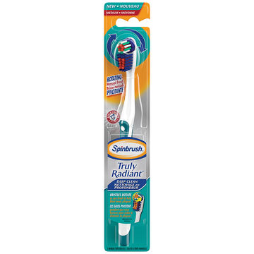 Spinbrush Truly Radiant Rotating Manual Toothbrush Deep Clean - Medium