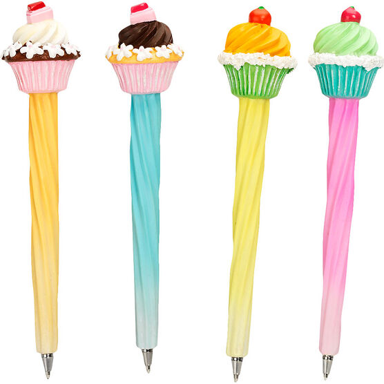 Hand Painted Cupcake Pens - Assorted