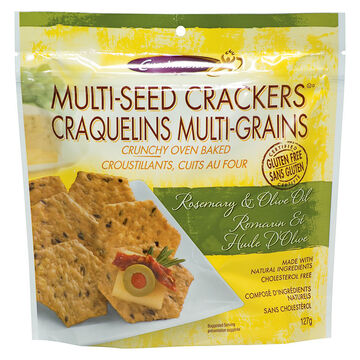 Crunchmaster Multi-Seed Crackers - Rosemary and Olive Oil - 127g