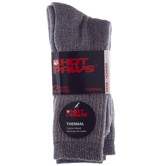 Hot Paws Basics Thermal Socks - Charcoal - 2 Pairs - Men's