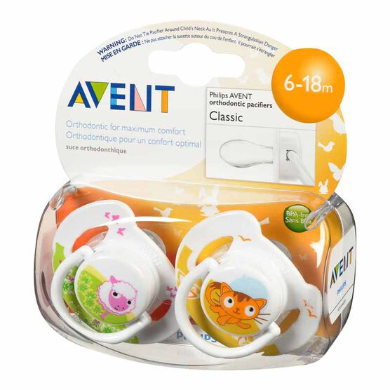 Avent Animal Toddler Pacifier - 6-18 months - SCF182/22