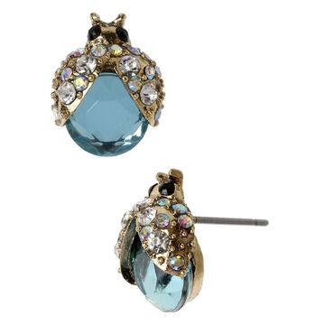 Betsey Johnson Ladybug Stud Earrings - Blue