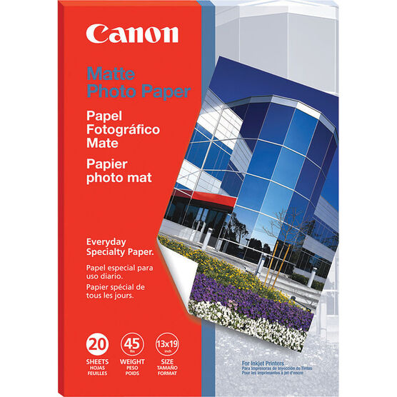 "Canon Matte Photo Paper - 13"" x 19"" - 20 sheets - 7981A011"