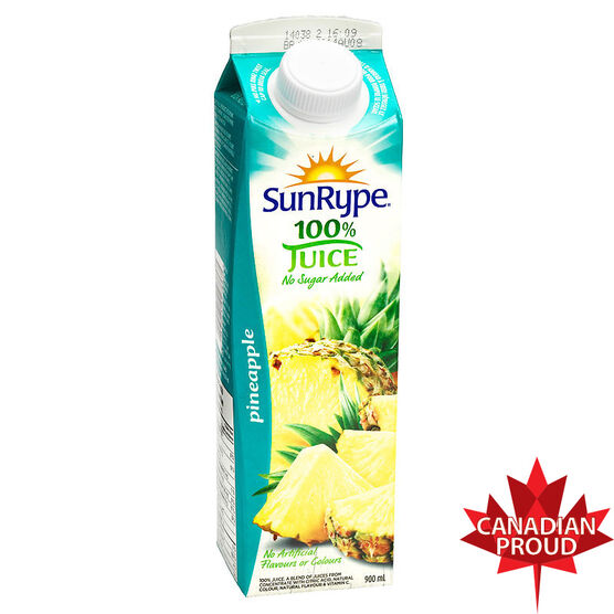 SunRype Fruit Juice - Pineapple - 900ml
