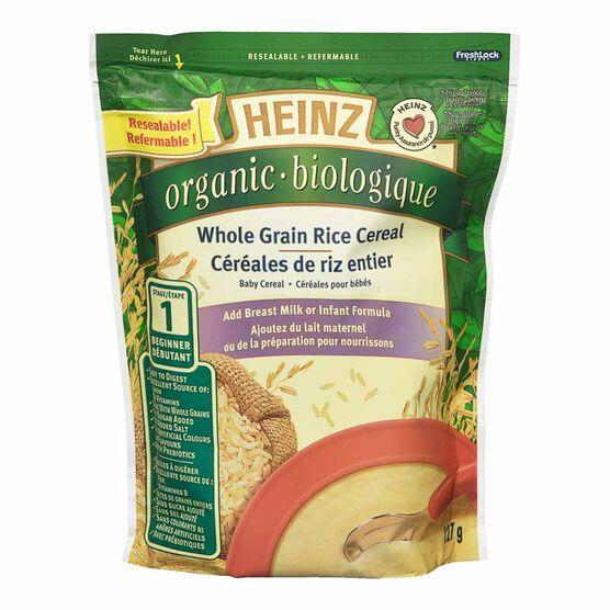 Heinz Organic Whole Grain Rice Cereal - 227g