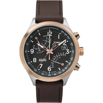 Timex IQ Fly-Back Chronograph - Black/Silver/Gold - TW2P73400ZA