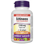 Webber Naturals Echinacea Standardized Herb Extract Softgels - 2100mg - 60's