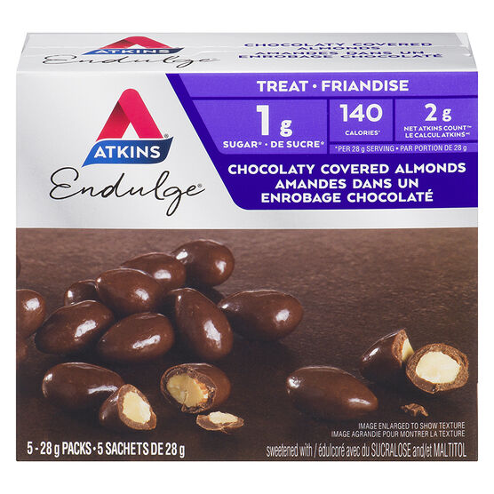 Atkins Endulge Chocolaty Covered Almonds - 5 x 28g