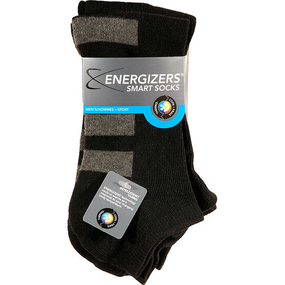 Energizers Men's Sport Low Cut Smart Socks - 2 pairs - Black
