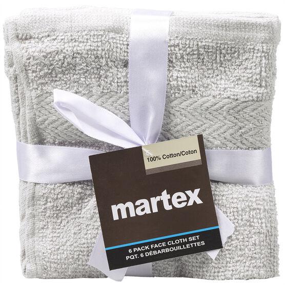 Martex Wash Cloths - Assorted - 6 pack