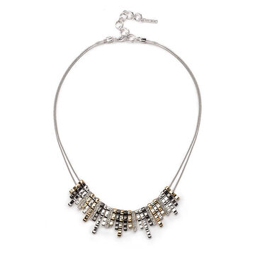 Nine West Frontal Necklace - Tri-Tone