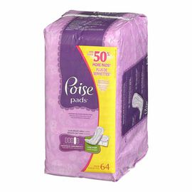 Poise Pads - Maximun Absorbency - Long - 64's