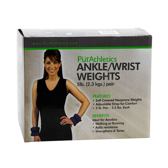 PurAthletics Ankle/Wrist Weights - 5Ibs - WTE100855
