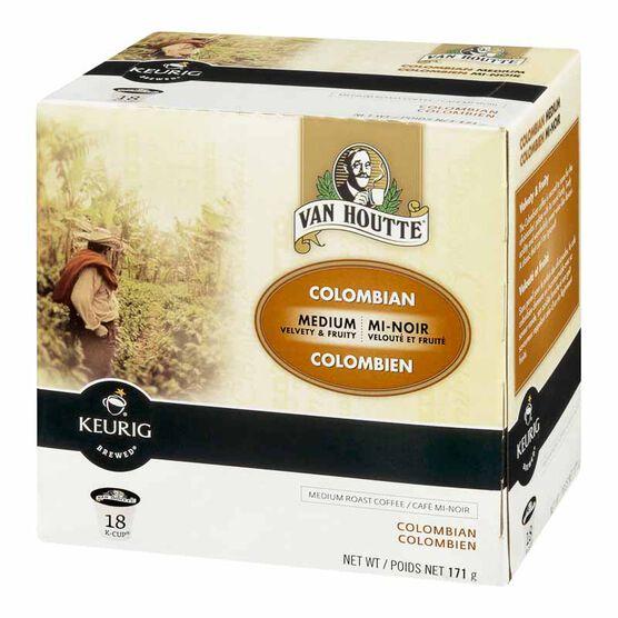 Keurig K-Cup Van Houtte Coffee Pods - Columbian - 18's