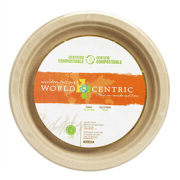 World Centric Fibre Plate - 9inch - 20 pack