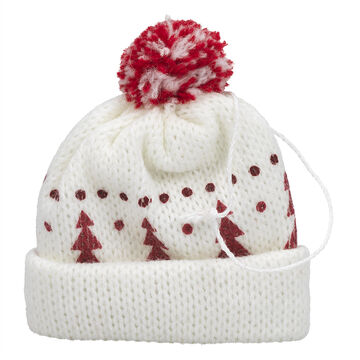 Winter Wishes Knit Winter Hat Ornament - 3 inch