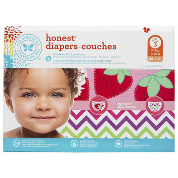 Honest Diapers - Size 3 - 68's - Girls