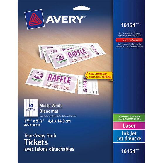 Avery Tear-Away Ticket Stubs - 16154