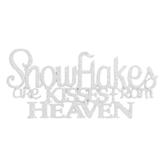 Winter Wishes Snowflakes Are Kisses From Heaven Ornament - 2.6in - XLD6009451FOB