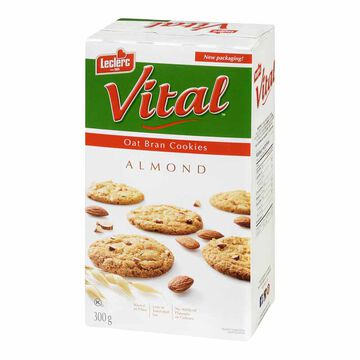 Leclerc Vital Cookies - Almond & Oat Bran - 300g