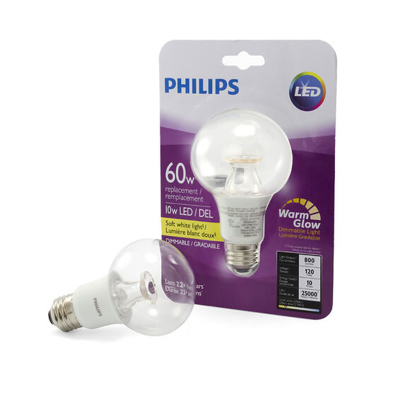 Philips Globe G25 LED Light Bulb - Clear Warm - 10w/60w