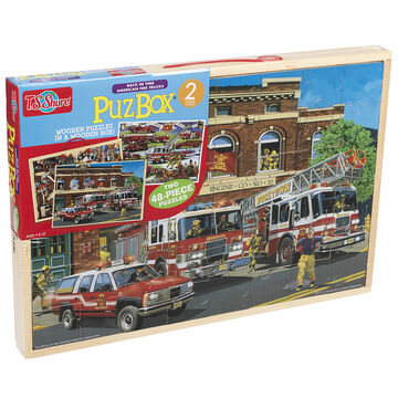 Back in Time American Fire Trucks Puz Box