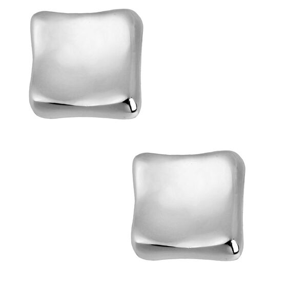 Robert Lee Morris Square Stud Earrings - Silver