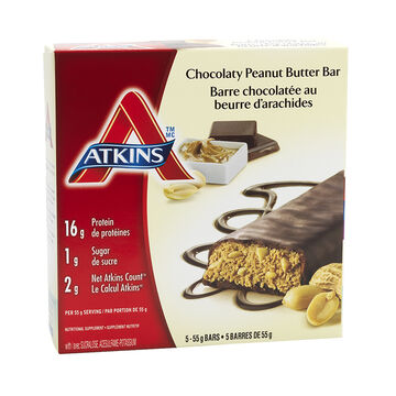 Atkins Advantage Bar - Chocolate Peanut Butter - 5 x 55g
