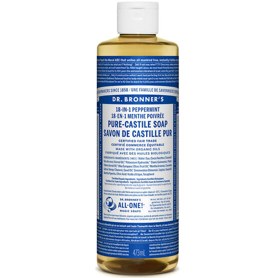 Dr. Bronner's Liquid Pure-Castile Soap - Peppermint - 473ml