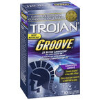 Trojan Groove Lubricated Condoms - 10's