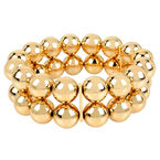 Haskell Two Row Ball Bead Bracelet - Gold