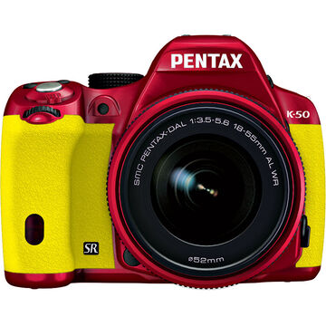 Pentax K-50 w/18-55 WR Kit - Red Body