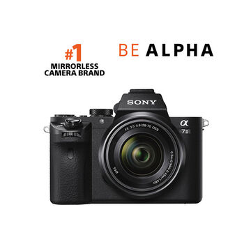 Sony Alpha A7 II Full-Frame Mirrorless Camera with 28-70mm Lens - Black -ILCE7M2K