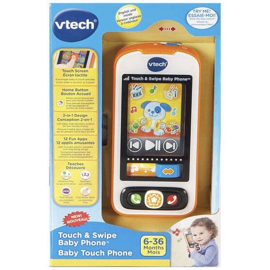 VTech Touch & Swipe Baby Phone - Orange