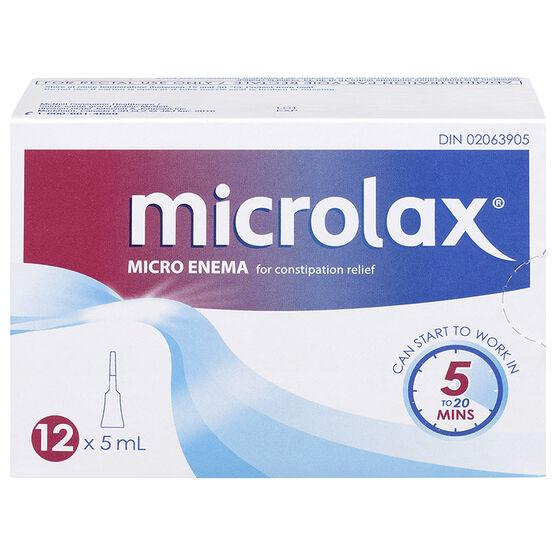 Microlax Micro Enema - 12 x 5ml