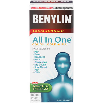 Benylin One All-in-One Cold & Flu - 180ml