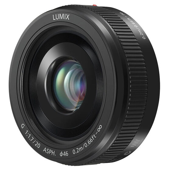 Panasonic LUMIX 20mm F1.7 Pancake Lens - Black - HH020A