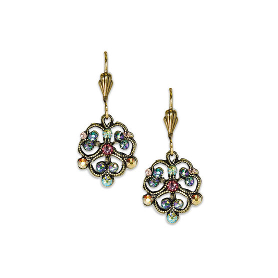 Anne Koplik Clover Filigree Drop Earrings