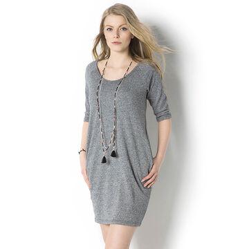 Lava Jersey T-Shirt Dress - Grey - E-CREPE