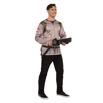 Halloween Ghostbuster T-shirt Costume - Men's Standard