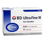 BD Ultra Fine TM III Pen Needles - 31 G x 8mm - 100's