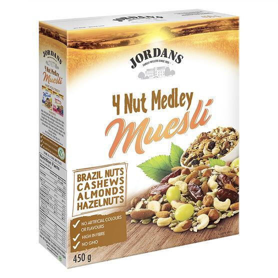 Jordans Muesli - 4 Nut Medley - 450g