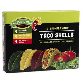 Fresh is Best Tri-Flavour Taco Shells - 156g