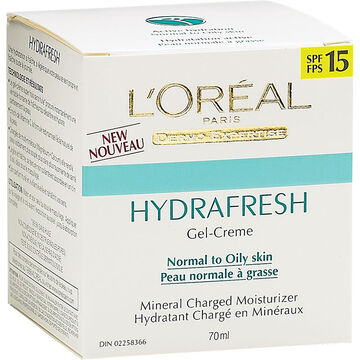 L'Oreal Dermo-Expertise Hydrafresh Moisturizer for Normal to Oily Skin SPF 15 - 70ml