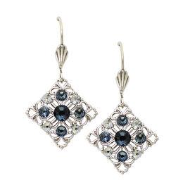 Anne Koplik Filagree Montana Blue Diamond Shaped Earrings