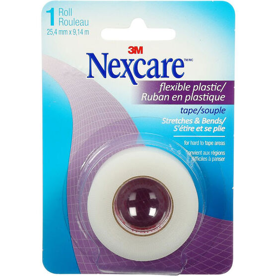 3M Nexcare Flexible Plastic Clear Tape - 25.4mm x 9.1m