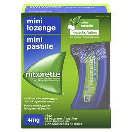 Nicorette Mini Lozenges - Mint - 4mg - 88's