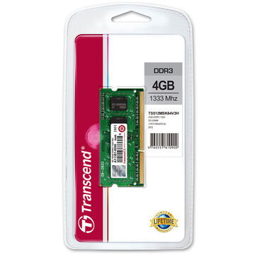 Transcend 4GB DDR3 1333Mhz SO-DIMM - TS512MSK64V3H
