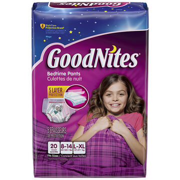 GoodNites Underwear for Girls - Large/Extra Large - 20's