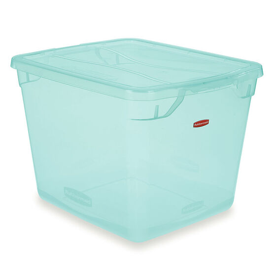 Rubbermaid Clever Store Tote - Teal - 28.3L